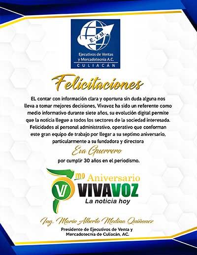 EJECUTIVOS DE VENTA FELICITACION